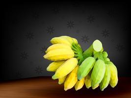 Vettore della banana del poligono su fondo scuro