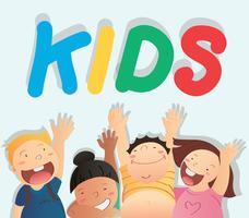 vettore di bambini e lo spazio di sfondo