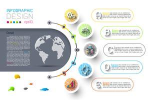 Modello astratto di opzioni di punto di infographics di affari.