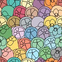 Fondo senza cuciture di arte di vettore del mangostano.