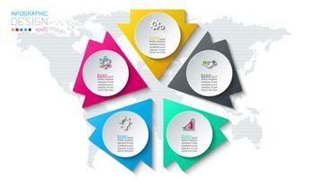 Infographics astratto su grafica vettoriale.
