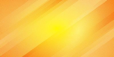 Le linee oblique di colore giallo e arancio astratto gradiscono le bande il fondo e lo stile di semitono di struttura di punti. Trama minimal moderno modello geometrico elegante.