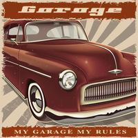 Poster auto d'epoca. vettore