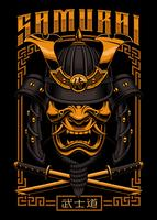 Poster design di samurai vettore