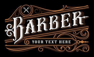 Disegno lettering barbiere vettore