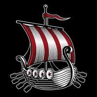 Illustrazione vettoriale con nave di viking.