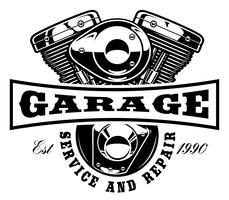 Modello di logo del motociclo vettore