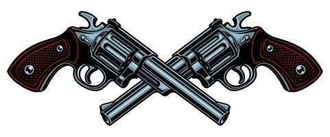 Illustrazione vettoriale con pistole.