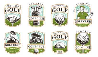 Set vettoriale di golf (12 logo)