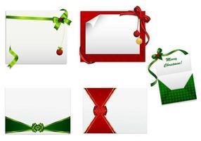 pacchetto di vettore di cartolina di Natale