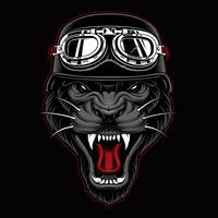 Mascotte Pantera Biker vettore