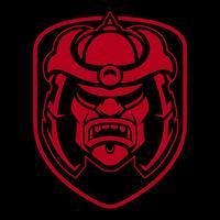 Design logo Samurai. vettore