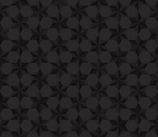 Fondo senza cuciture del poligono delle stelle del nero del modello - illustrazione di vettore