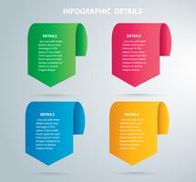 grafico di informazioni quadrate Modello di vettore con 4 opzioni. Può essere utilizzato per il web, diagramma, grafico, presentazione, grafico, report, infografica passo-passo. Sfondo astratto