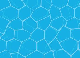 Illustrazione di vettore del fondo brillante blu della superficie dell'acqua