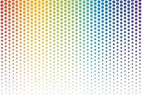 Illustrazione vettoriale di sfondo arcobaleno pois