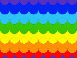 Fondo senza cuciture astratto del modello del cerchio dell'arcobaleno - Vector l'illustrazione