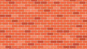 Priorità bassa rossa o arancione del muro di mattoni - illustrazione di vettore