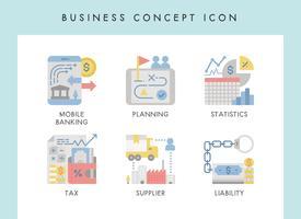 Icone di concetto di affari vettore
