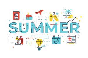 Illustrazione di lettering parola estate
