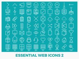 Icone web misti essenziali vettore
