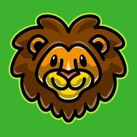 Illustrazione del fumetto della testa del leone vettore
