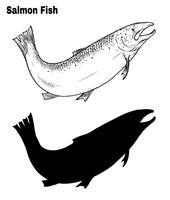 Disegno di pesce a mano a mano.