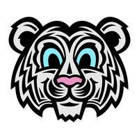 simpatico cartone animato gatto tigre vettore