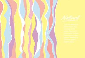 illustrazione vettoriale carino morbido arcobaleno linea sfondo