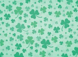 illustrazione vettoriale carino sfondo verde foglia di trifoglio
