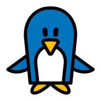 Illustrazione del fumetto del pinguino vettore