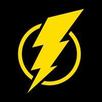 Icona del fulmine vettore