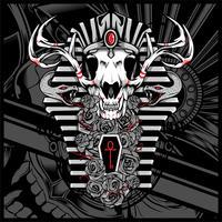 Anubi Dio dei morti, con serpente - Vector