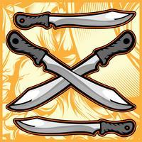 disegno a mano di coltello vettoriale