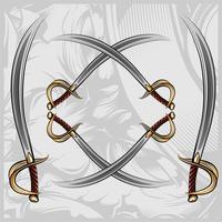 disegno della mano di vettore di spada