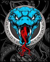 vettore di testa di serpente