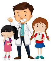 Carattere medico e paziente vettore