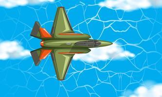 Aereo dalla vista aerea vettore