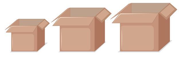 Set di scatole di cartone vettore