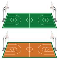 Set di due campi da basket vettore
