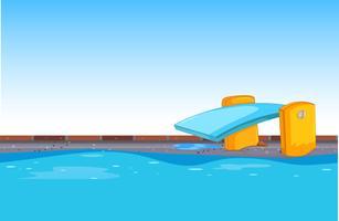 Sfondo blu piscina vettore