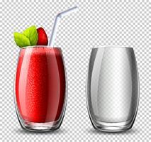 Un cocktail di fragole su sfondo c vettore