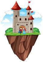 Principe e principessa al castello vettore