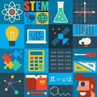 Istruzione STEM vettore