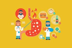Malattia da reflusso gastroesofageo vettore