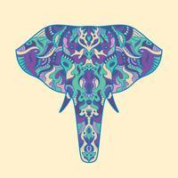 Illustrazione di elefante dipinto vettore
