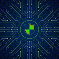 Illustrazione di idea di segretezza di informazioni di sicurezza di dati di Cyber vettore