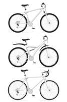 illustrazione vettoriale di icone sport biciclette