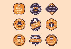 Happy Father's Day Etichette vettore