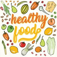 Disegno vettoriale di cibo sano